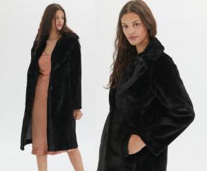 Avec Les Filles Bonded Faux Fur Coat