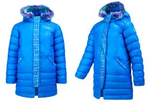 Spyder Girls' Glam Faux Fur Down Jacket