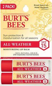 Burt's Bees 100% Natural All-Weather SPF15 Moisturizing Lip Balm