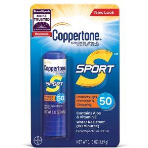 Coppertone Sport Sunscreen Lip Balm Broad Spectrum SPF 50