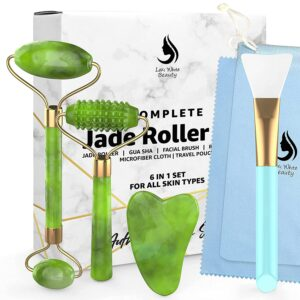 ade Roller Face Roller Stone Guasha 6 in 1 Face Massager Set for Face